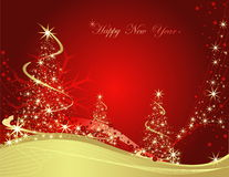 Happy New Year background. Gold and red Happy New Year background Stock Photos
