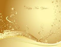 Happy New Year background. Gold Happy New Year background Royalty Free Stock Photo