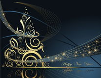 Happy New Year background. Gold and blue Happy New Year background Stock Images