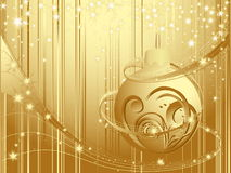 Happy New Year background. Gold Happy New Year background with stars Stock Photos