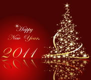 Happy New Year background. Red and gold Happy New Year background Stock Photos