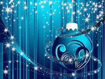 Happy New Year background. Blue and silver Stock Photo
