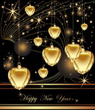 Happy New Year background. Black and gold Royalty Free Stock Photography