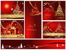 Happy New Year background. Merry Christmas and Happy New Year collection Royalty Free Stock Photos