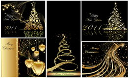 Happy New Year background. Merry Christmas and Happy New Year collection Royalty Free Stock Photo