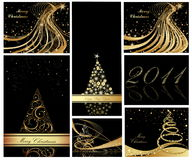 Happy New Year background. Merry Christmas and Happy New Year collection Royalty Free Stock Images