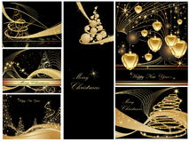 Happy New Year background. Merry Christmas and Happy New Year collection Stock Photos