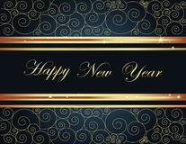 Happy New Year background. Gold Happy New Year  background Stock Photography