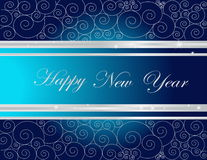Happy New Year background. Silver and blue Happy New Year  background Stock Image