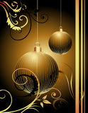 Happy New Year background. Gold and black stock illustration