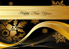 Happy New Year background. Gold Happy New Year background vector illustration