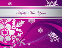 Happy New Year background. Silver and violet Happy New Year  background Royalty Free Stock Image
