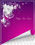 Happy New Year background. Silver and violet stock illustration