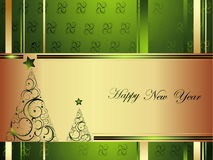 Happy New Year background. Gold Happy New Year background stock illustration