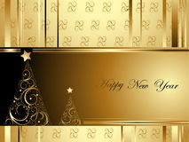 Happy New Year background. With gold details vector illustration