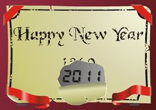 Happy new year background. Vector illustration Royalty Free Stock Photography