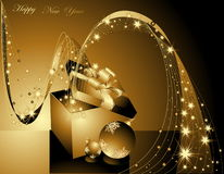 Happy New Year background. Merry Christmas background silver and violet Stock Image