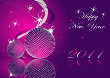 Happy New Year background. Merry Christmas background silver and violet Royalty Free Stock Photo