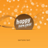 Happy new year background. Orange on the ground for happy new year Royalty Free Stock Images