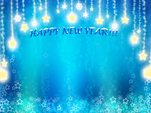 Happy New Year background. In blue tones with stars Royalty Free Stock Image