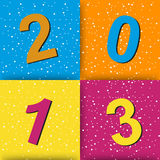Happy new year background. 2013 Stock Images