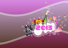 Happy new year background. Happy new year poster background with space Stock Photo