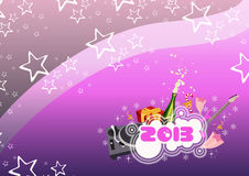 Happy new year background. Happy new year poster background with space stock illustration