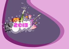 Happy new year background. Happy new year poster background with space Stock Photos