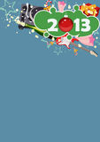 Happy new year background. Happy new year poster background with space royalty free illustration