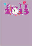 Happy new year background. Happy new year poster background with space Royalty Free Stock Photos