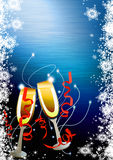 Happy new year background. Happy new year poster background with space Royalty Free Stock Image