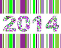 Happy new year 2014. Background Stock Image
