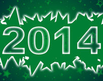 Happy new year 2014. Background Royalty Free Stock Photos