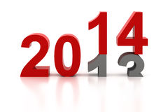 Happy New Year 2014. Background Royalty Free Stock Photo