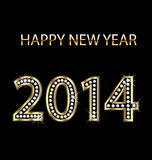 2014 Happy new year vector Stock Photos