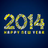 Happy new year 2014. Background Stock Photography