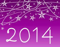 Happy new year 2014. Happy new year on a background Stock Photography