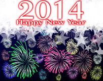 Happy new year 2014. Happy new year on a background Royalty Free Stock Images