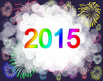 Happy new year 2015. Happy new year  on a background Royalty Free Stock Images