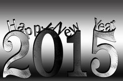 Happy new year 2015. Background Royalty Free Stock Photography
