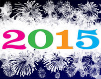 Happy new year 2015. Background Stock Image