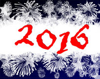 Happy new year 2016. Happy new year on a  background Royalty Free Stock Image