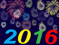 Happy new year 2016. Happy new year on a  background Royalty Free Stock Images