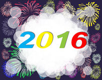 Happy new year 2016. Happy new year on a  background Stock Photography