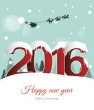 Happy new year 2016. Background royalty free illustration