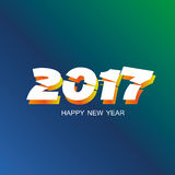 Happy new year 2017 background. Abstract happy new year 2017 background Royalty Free Stock Photos