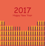 2017 happy new year 2017 background. Happy new year 2017 abstract background Stock Image