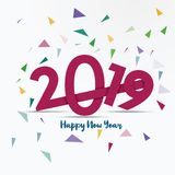 Happy new year 2019 background With Abstract Shapes vector illustration