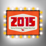 Happy new year background with advertising board for 2015.  Stock Photo
