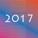 Happy new year 2017 background. Happy new year 2017 anbstract colorful background vector illustration